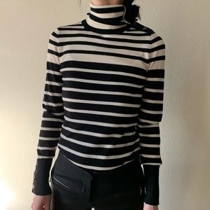 Banana Republic Striped Turtleneck sweater top